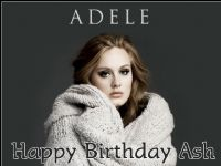 A4 Adele Edible Icing or Wafer Paper Cake Topper